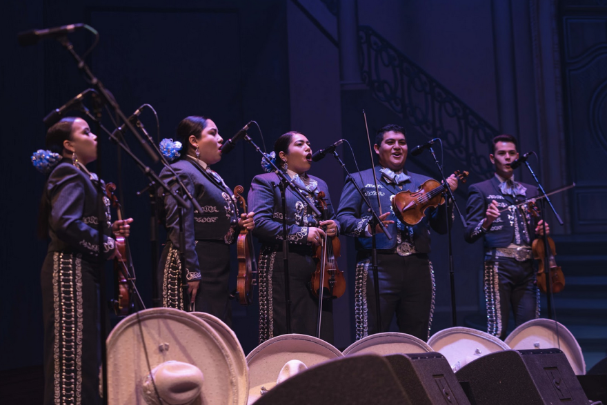 A group of musicians perform. Now that San Antonio has enacted stay-at-home orders, gigs are much harder to come by for mariachi bands.