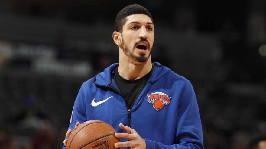 New York Knicks center Enes Kanter has been a vocal critic of Turkish President Recep Tayyip Erodgan.