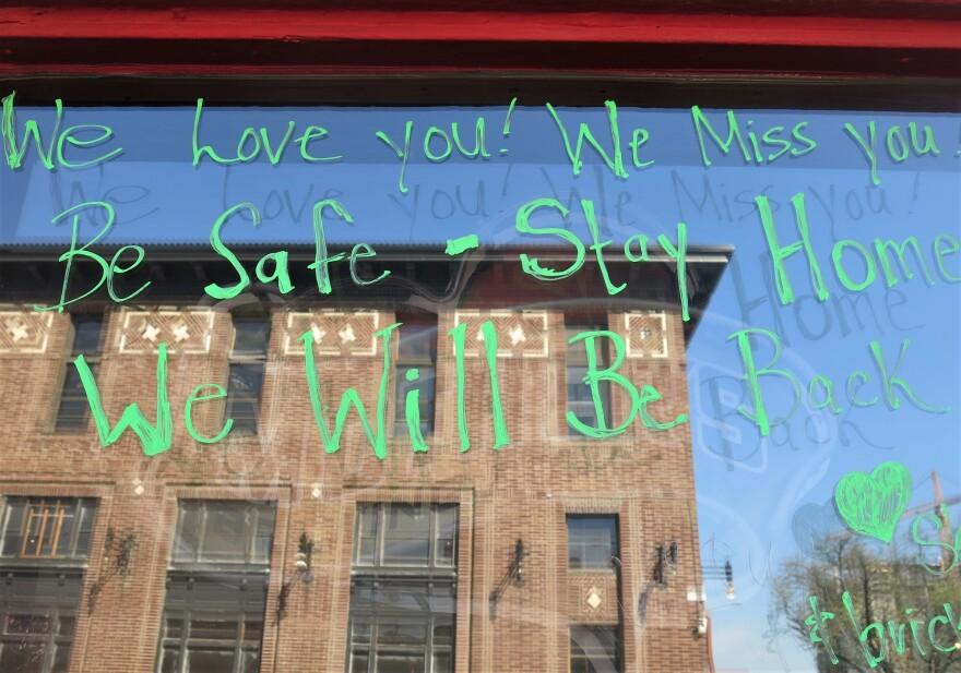 Sign At The Brick.JPG