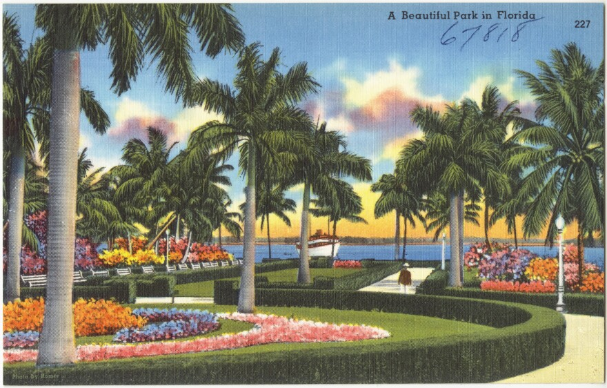 A Florida postcard from the 1930s or 1940s.