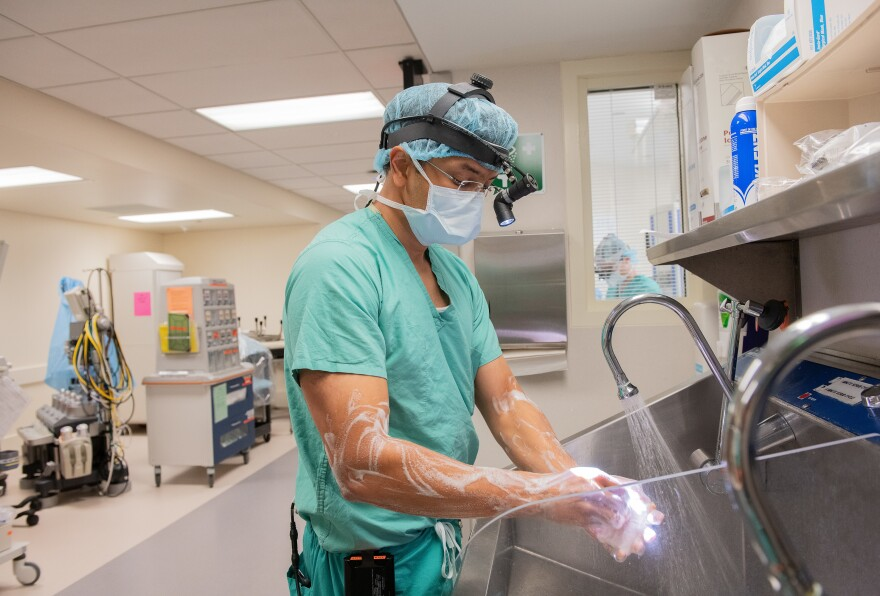 Dr. Ankit Bharat, Northwestern Medicine's chief of thoracic surgery, performed the 10-hour procedure.