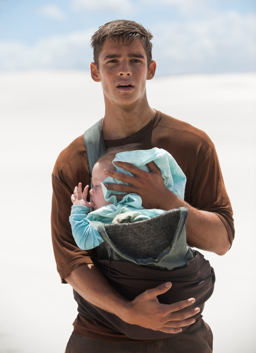 Jonas, played by Brenton Thwaites, is assigned to learn the painful history of humanity in Lowis Lowry's <em>The Giver.</em>