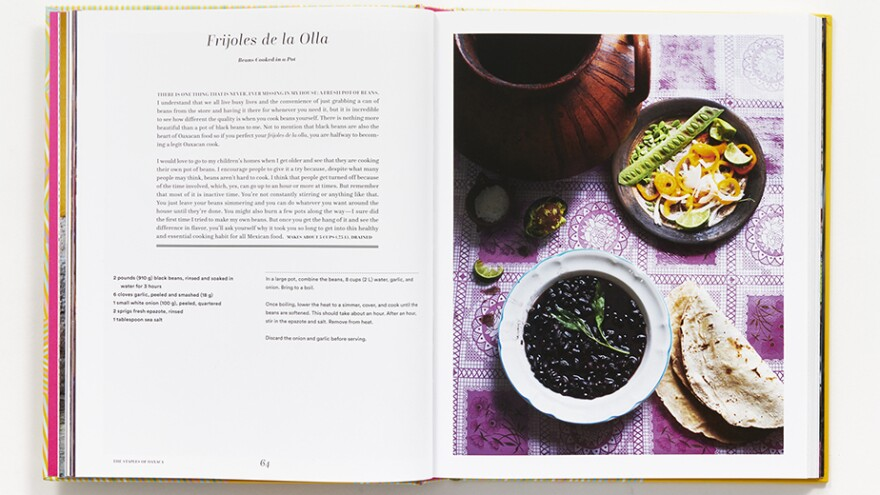 "A recipe from the cookbook for <em>frijoles de la olla</em>, or ""beans cooked in a pot,"" a Oaxacan staple."