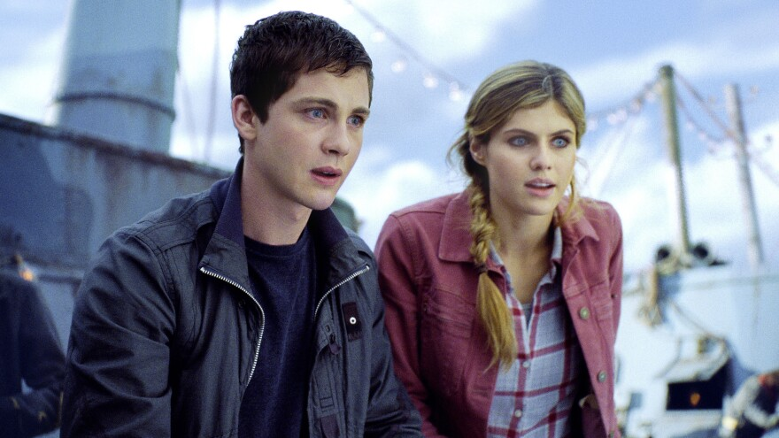 Percy Jackson (Logan Lerman of <em>Perks of Being a Wallflower</em>) and his pal Annabeth (Alexandra Daddario) are two of the unusually talented teens resident at Camp Half-Blood, a summer retreat for — well, demigods, not to put too fine a point on it.