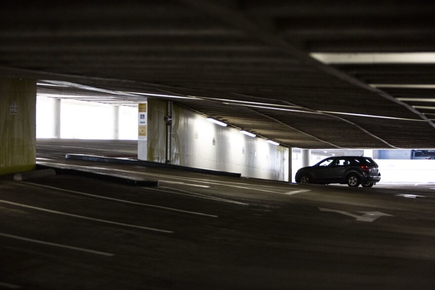 Downtown Austin parking garages sit mostly empty during the city's stay-at-home order to help stop the spread of the coronavirus.