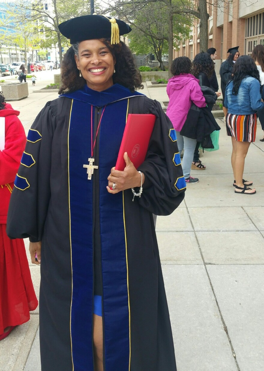 Dr. Marijuana Pepsi Vandyck graduated from Cardinal Stritch University in Wisconsin this month with a doctorate in higher education leadership.