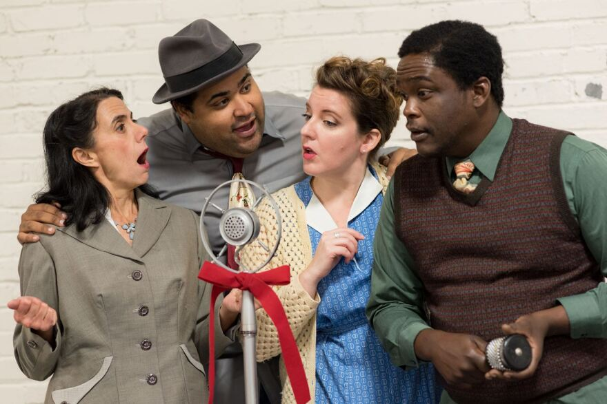 """John Wolbers' adaptation of """"It's a Wonderful Life"""" for Metro Theater Company is set at a fictional 1949 St. Louis radio station."""