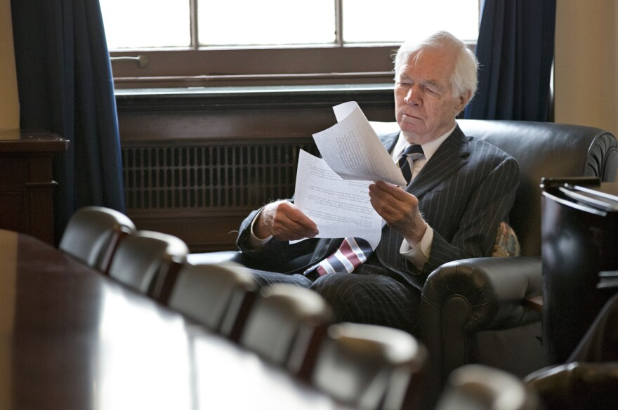 Sen. Thad Cochran, shown here in 2013, used seniority to steer billions of dollars to his home state of Mississippi.