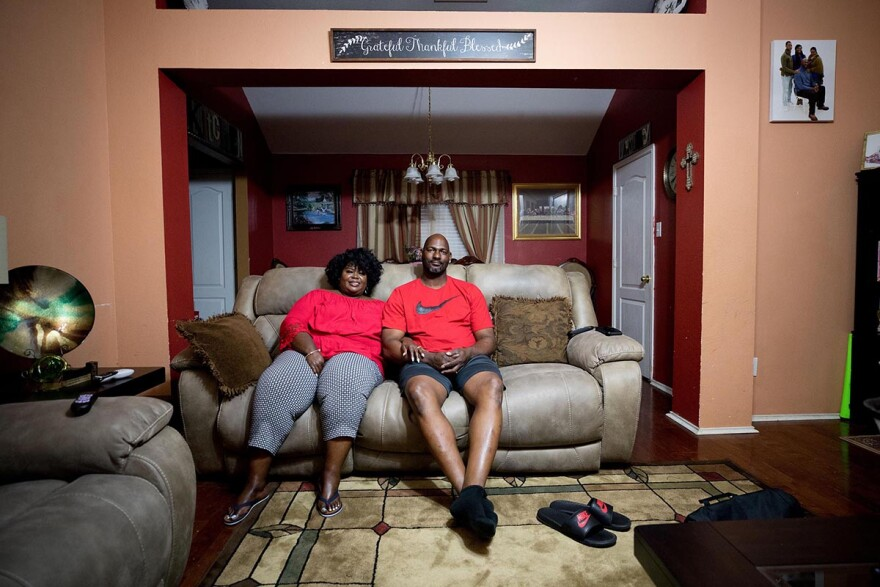"""""""Our daughter was just 3, so she really didn't understand that her dad was not coming home,"""" Kim said. She and Ed today share a home in Cedar Hill, Texas."""