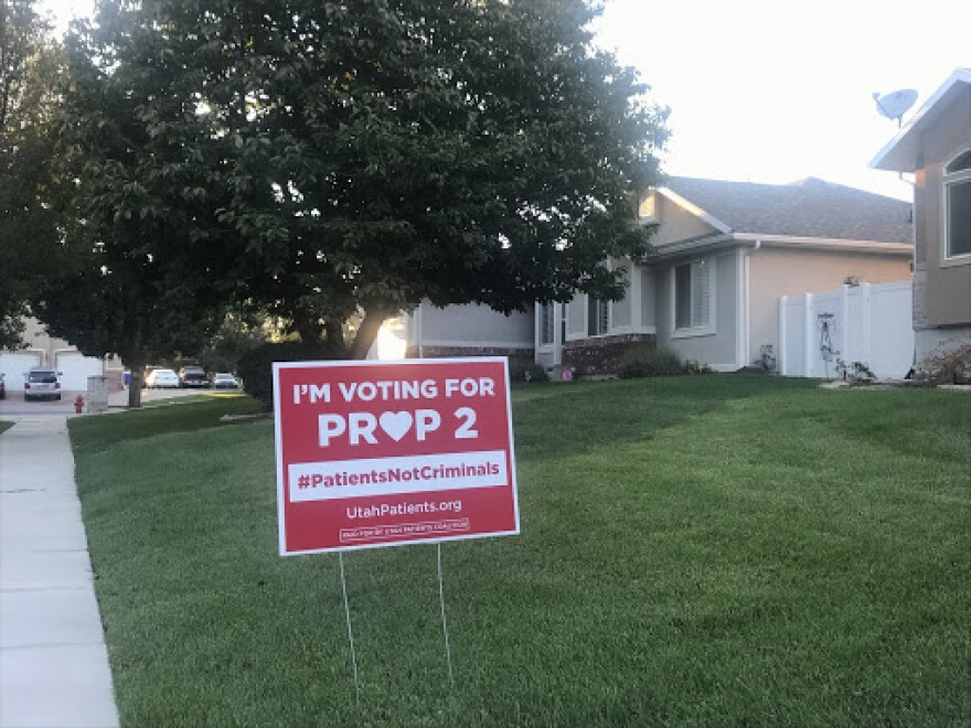 Photo of prop 2 sign.