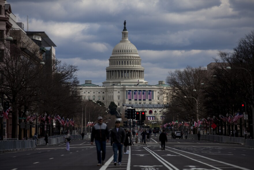 Security preparation continues in Washington, D.C., for Wednesday's inauguration of President-elect Joe Biden.