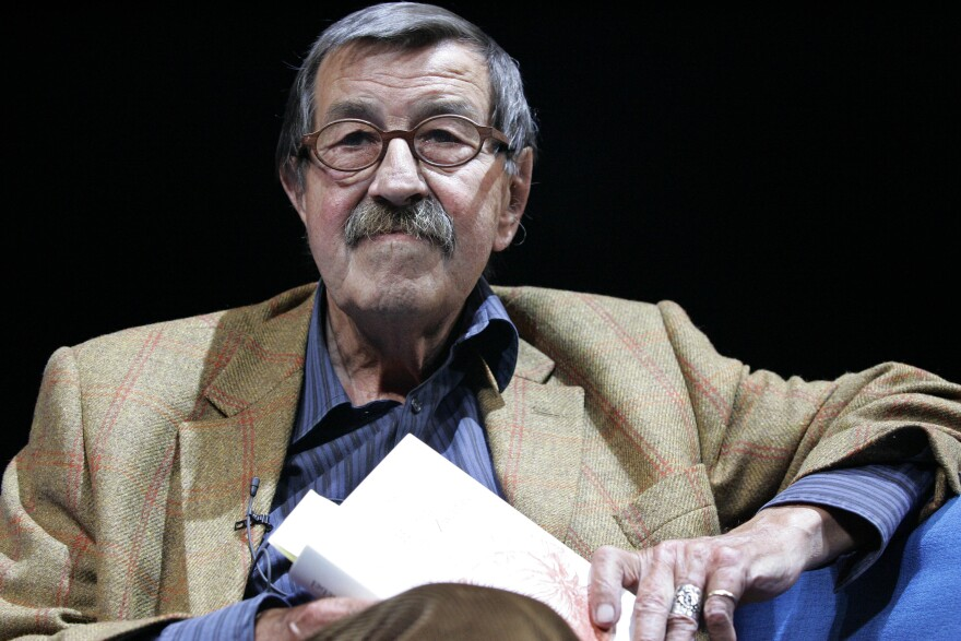 German writer Günter Grass, seen here in 2006, died at a clinic in Lübeck, Germany. He was 87.