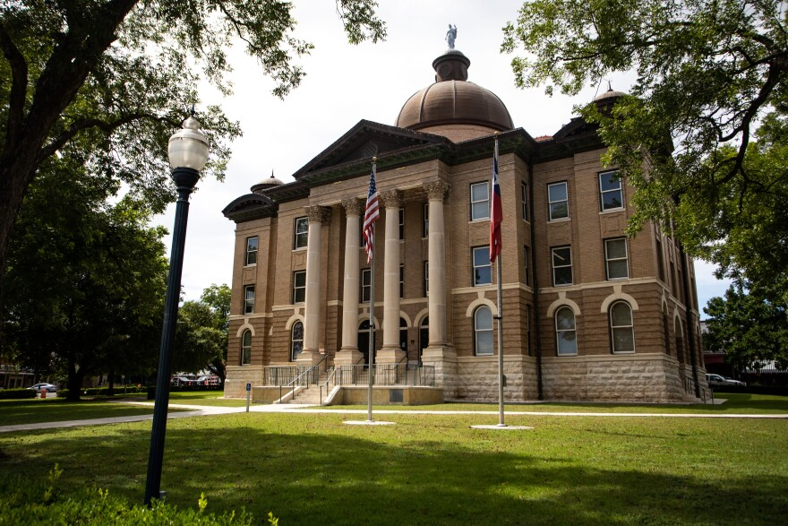 The Hays County Courthouse.