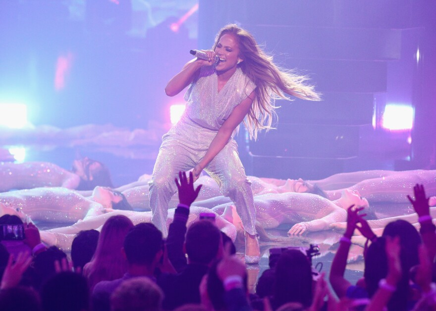 """Jennifer Lopez says women are increasingly realizing: """"We have worth, and value, and that we deserve everything that we want."""" (Above) Lopez performs during the 2018 American Music Awards on Oct. 9 in Los Angeles."""