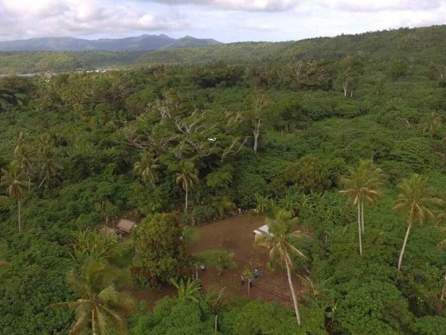 The landing site for the drone at Cook's Bay, Vanuatu.