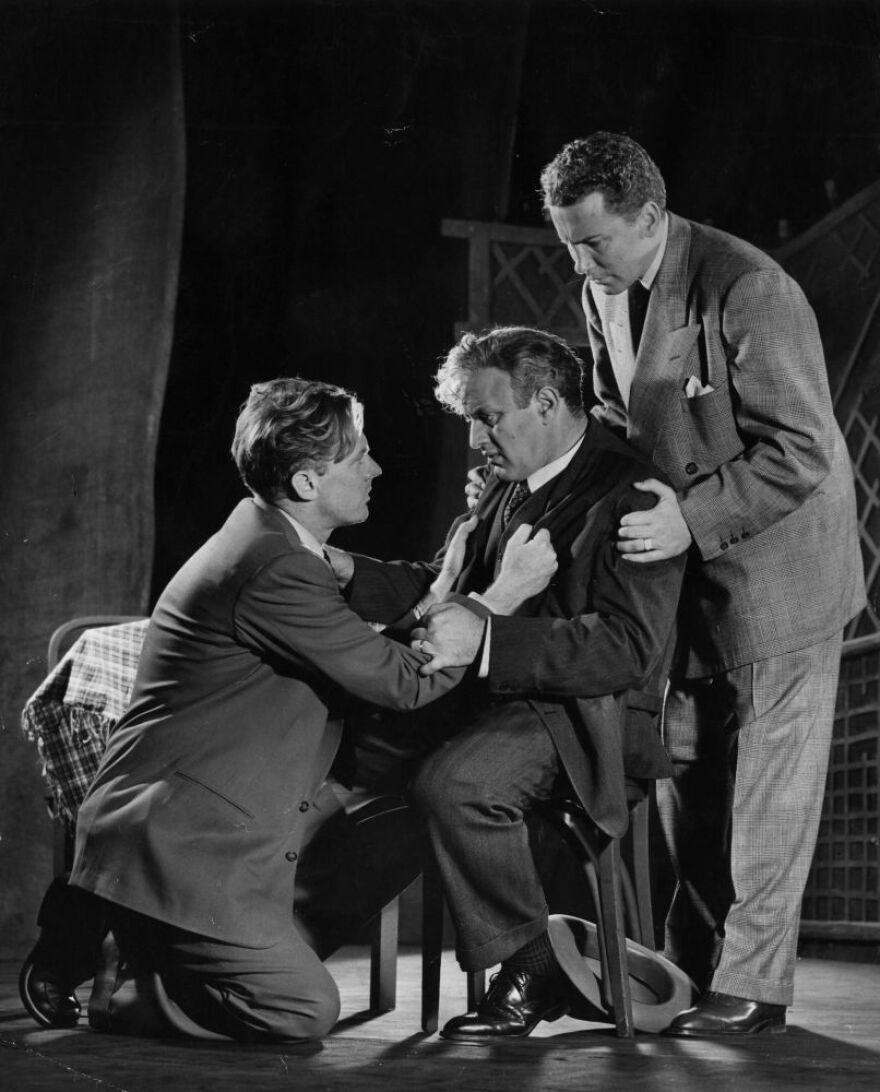 Lee J. Cobb (center) starred in the original, 1949 Broadway production of <em>Death of a Salesman</em>.