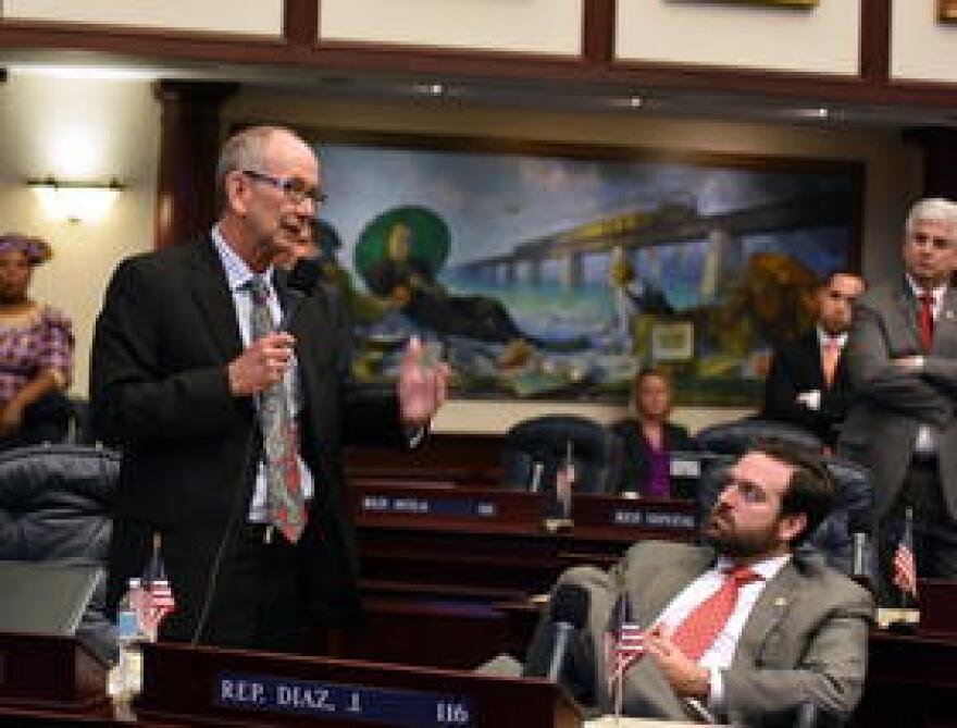 Rep. John Wood, R-Winter Haven, speaks earlier this year on the Florida Housefloor.