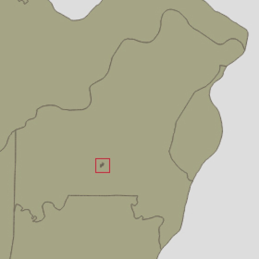 map shows where Twin Oaks is
