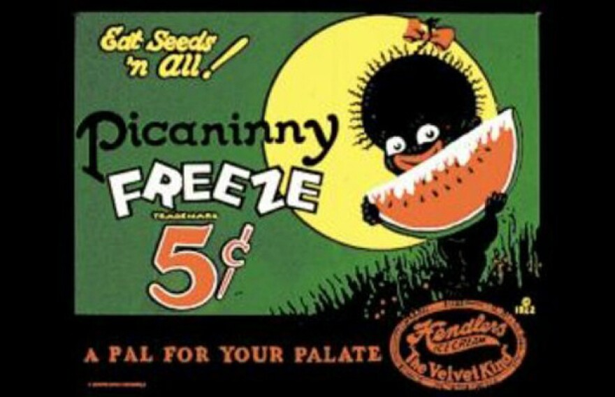 Ads for sweets in the 1920s drew on long-standing racial stereotypes. One of the more grotesque examples: The ads for the Hendler Creamery Company's Picaninny Freeze featured a racist caricature of a young black girl eating watermelon.