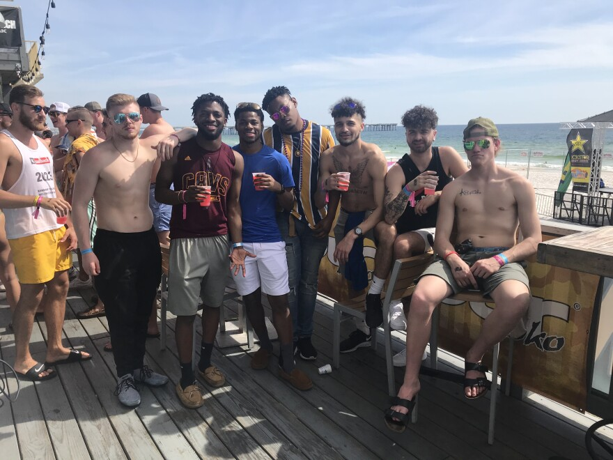 College students from across the country have fun at Harpoon Harry's bar and restaurant, a popular spring break hangout spot in Panama City Beach, FL on Sunday, March 15, 2020.