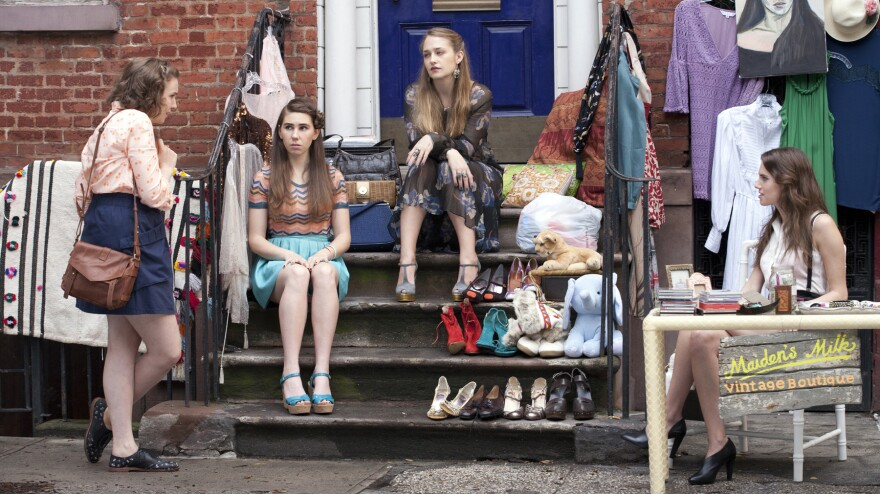 Lena Dunham's series <em>Girls</em>, which follows the lives of a group of young women in New York City, returns to HBO this month.