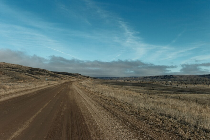 The road to Cherry Creek is 17 miles of gravel and is often inaccessible in harsh South Dakota weather.