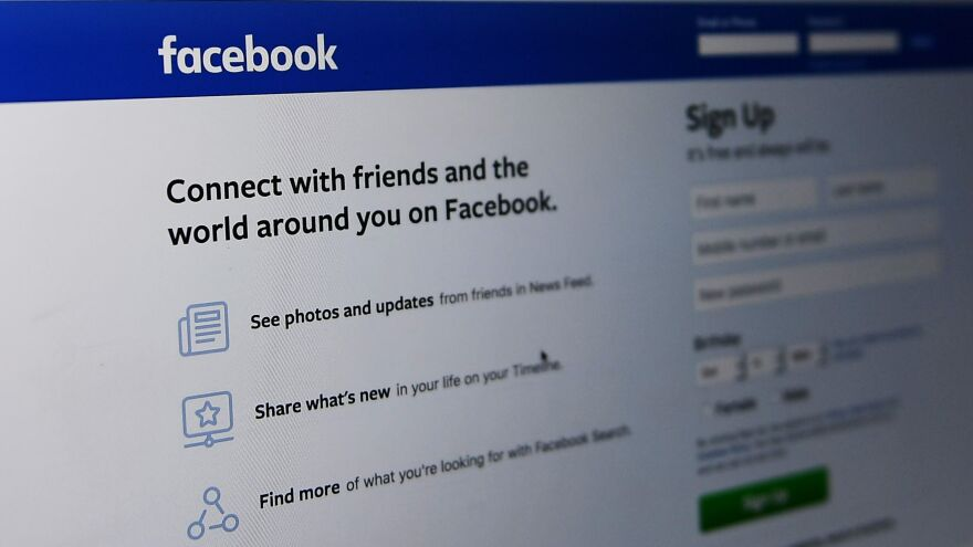 An Oct. 11 photo shows the Facebook login page in Washington, D.C.