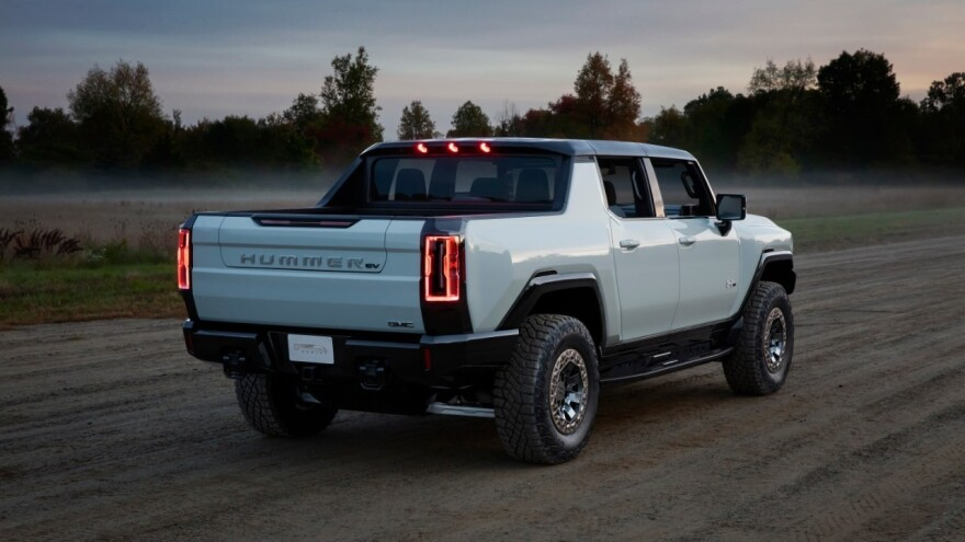 The GMC Hummer EV has a pickup bed and front trunk.