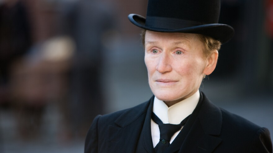 Glenn Close portrays a woman quietly living as a man in 19th-century Ireland. The character, Albert Nobbs, worked and saved money to avoid the wave of poverty plaguing the country at the time.