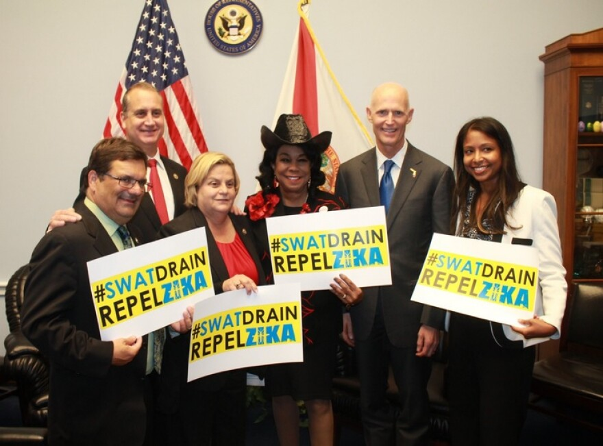 Governor Rick Scott and Florida Surgeon General Celeste Philip joined by a bipartisan group of Florida's Congressional Delegation during his Washington D.C. trip.
