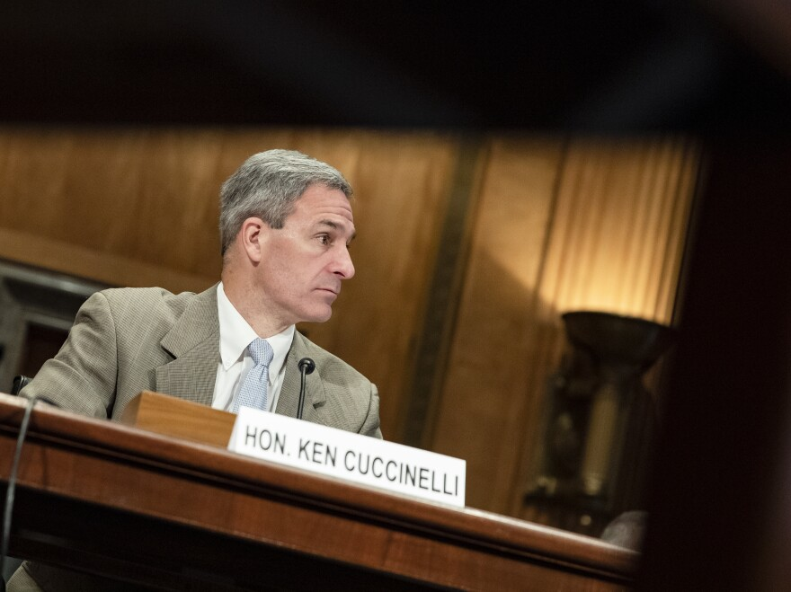Ken Cuccinelli testified before the Senate Homeland Security Committee during a hearing on the government's response to the coronavirus (COVID-19) outbreak on March 5, 2020. Cuccinelli is the senior official performing the duties of the deputy secretary at DHS.