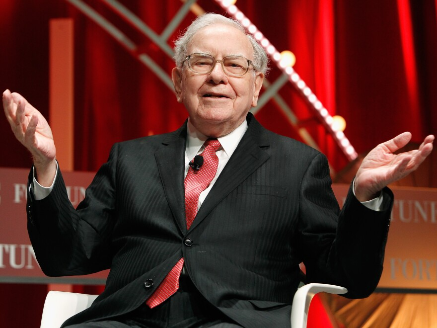 Warren Buffett speaks onstage during Fortune's Most Powerful Women Summit, in October 2015.