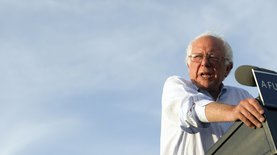 Bernie Sanders says he will vote for Clinton, but still won't endorse her. He wants her to back a $15 minimum wage and tuition-free state college.
