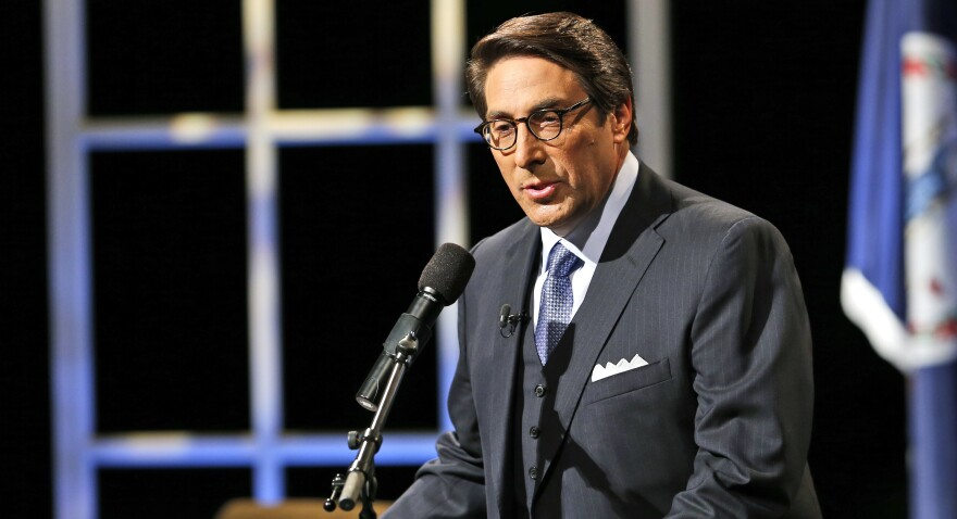 Jay Sekulow, a religious rights lawyer and a new member of the president's legal team, introduces Republican presidential candidate former Florida Gov. Jeb Bush at Regent University in Florida in 2015.
