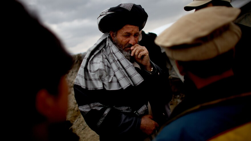 Mohammed Ibrahim is the camp elder at the Nasaji Bagrami camp.