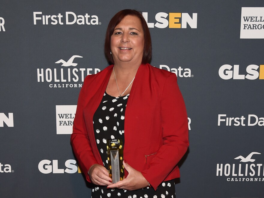 Stephanie Byers, pictured here as a 2018 GLSEN Educator of the Year, won her 2020 race for the Kansas state House of Representatives.