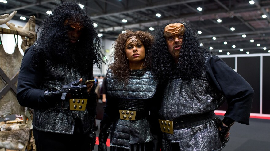 Star Trek fans dress as Klingons during the Destination Star Trek event at ExCel on Oct. 3, 2014, in London.