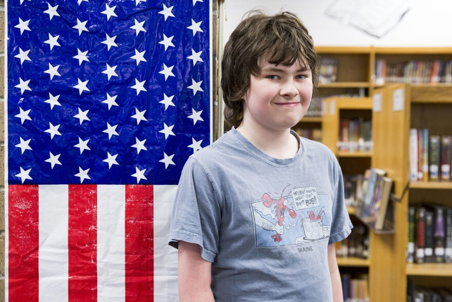 Bodhi Lee, 11, a sixth-grade student at Warren Middle School, asked Malinowski directly about whether the congressman supported opening an impeachment inquiry against President Trump.