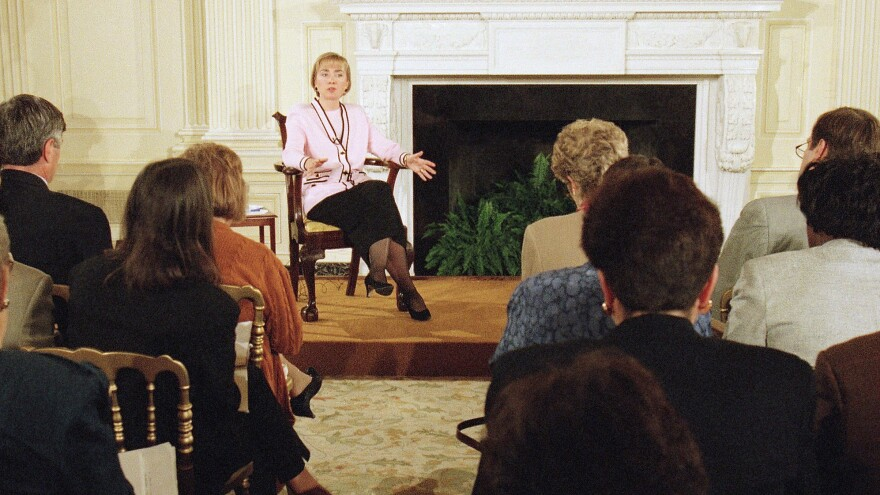 In April 1994, Hillary Clinton took questions from reporters for more than an hour as first lady. By that point, she had a reputation for not being particularly transparent and for not spending enough time addressing the national media.