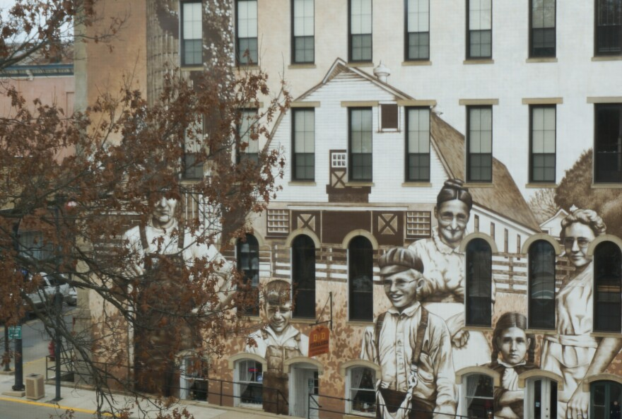 From the windows of the court, one can see a large mural that features multiple generations of Wilmington residents, and Judge Rudduck says that addiction is a multigenerational problem. He's seen grandparents, parents, and children struggling with the sa