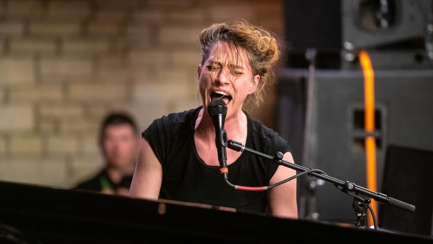 Amanda Palmer performs at the Tiny Desk Family Hour at Central Presbyterian Church in Austin, TX during the 2019 SXSW music festival.