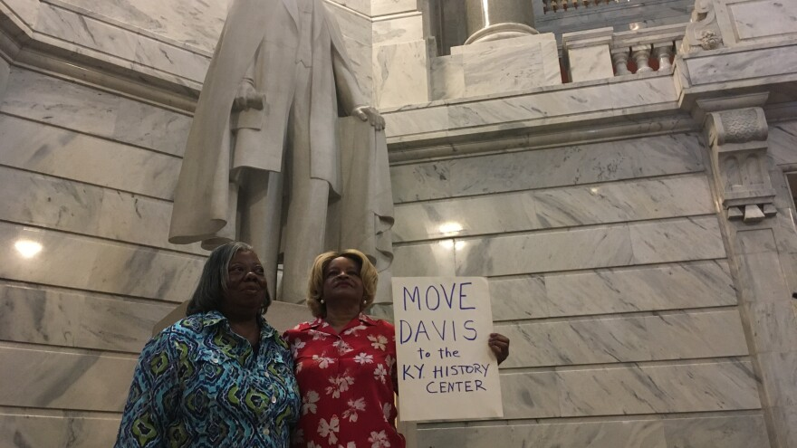 Calls to remove the statue of Jefferson Davis in the Kentucky Capitol have grown, especially in the last few weeks following protests against racial injustice.