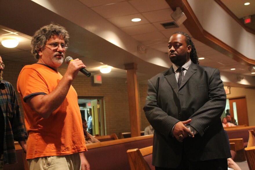 Ferguson resident Nick Kasoff, left, is one of the many landlords who've spoken out against O'Mara's bill.