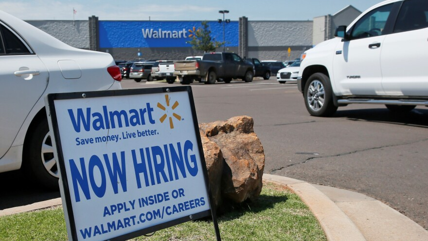 Walmart says it will hire  some 150,000 nationwide through the end of May.