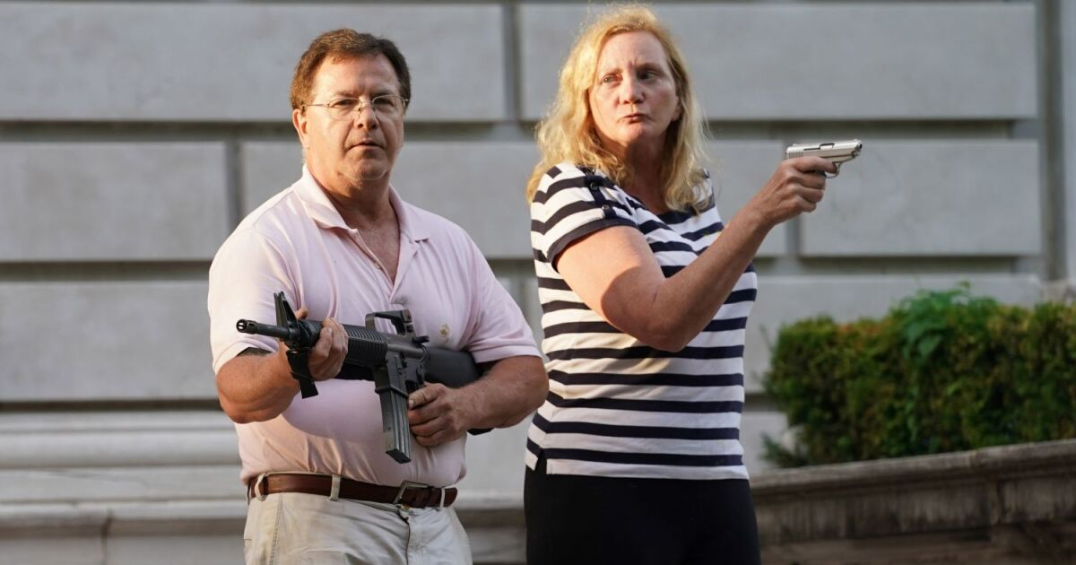 Central West End Couple Who Pointed Guns At Protesters Plead Guilty