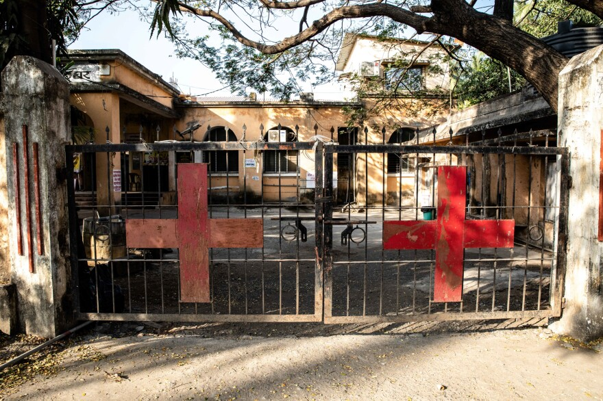 Palghar Rural Hospital, about three hours drive north of Mumbai, is turning a wing into a vaccination center.