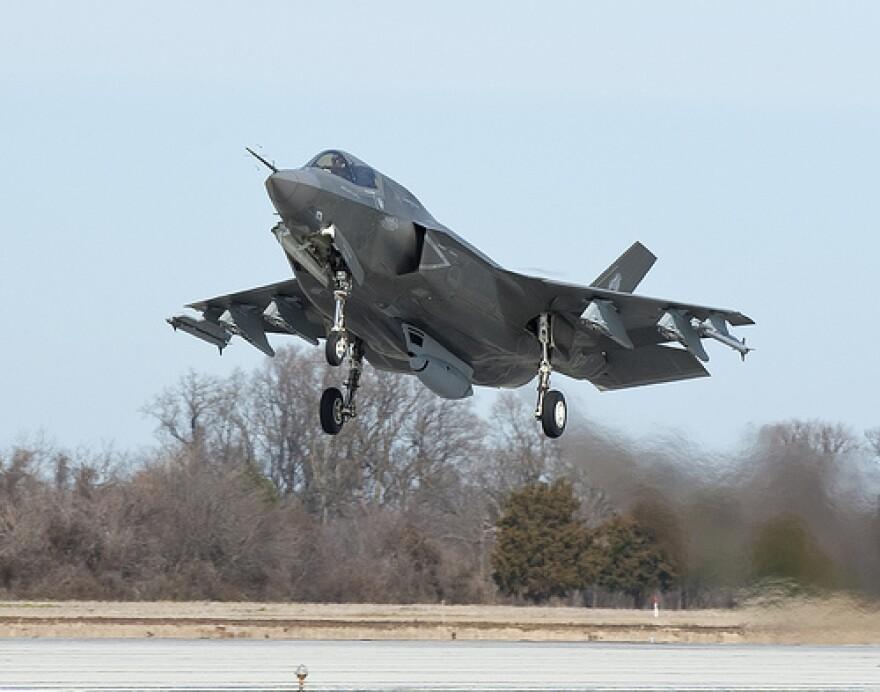 A Lockheed Martin F-35 air plane air force