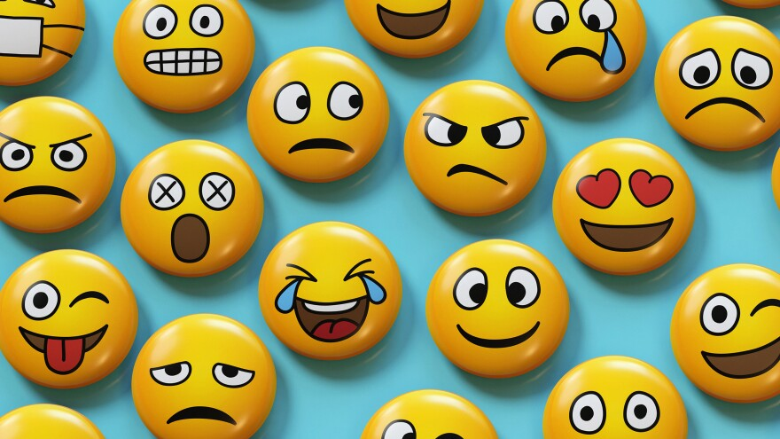 Linguist Gretchen McCulloch likens emojis to digital gestures in her book, Because Internet: Understanding the New Rules of Language.