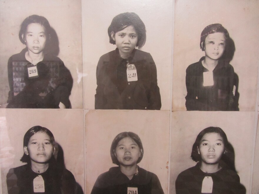 Photographs taken by the Khmer Rouge of some of the thousands of people held at Tuol Sleng, a former school in Phnom Penh turned into a torture center and death chamber during the fanatical communist movement's 1975-79 rule of Cambodia.