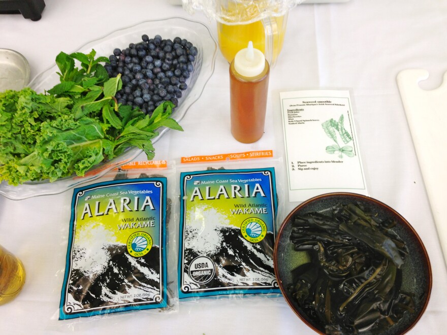 """Ingredients for a seaweed smoothie include Maine-grown Alaria, also known as """"Wild Atlantic Wakame."""""""